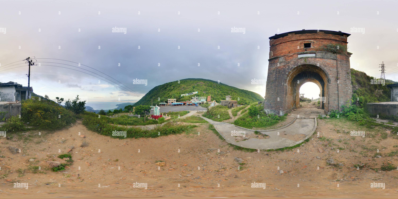 Les Monuments de Hai Van Quan à l'apogée de l'Hai Van Pass Photo Stock