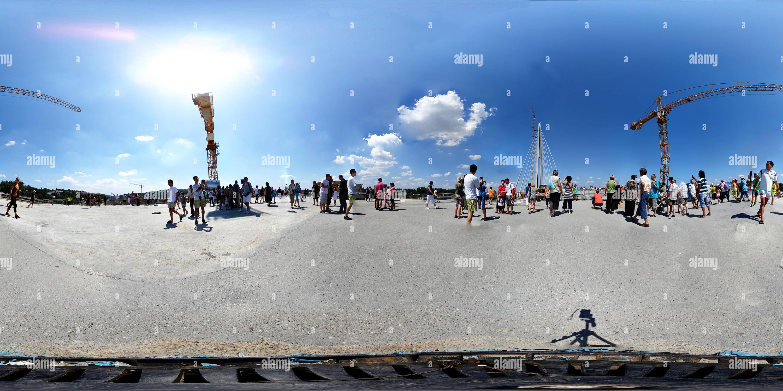 Nouveau pont sur la Save à Belgrade Photo Stock