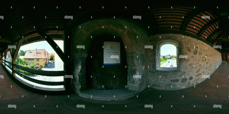 Dinkelsbühl - Eingang zum Nördlinger Torturm Photo Stock