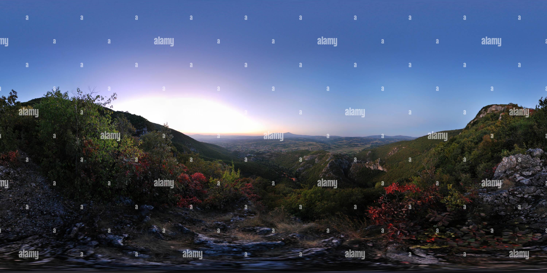 Vue panoramique à partir de la grande roche Photo Stock