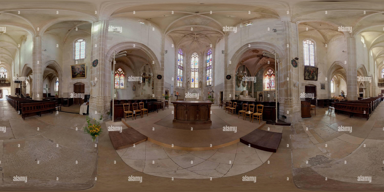 Église de Noyers sur Serein Photo Stock