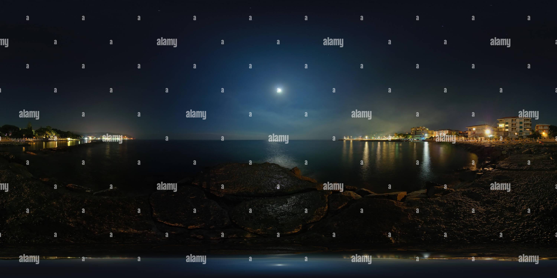 Diano Marina, Moonlight Sonata Photo Stock