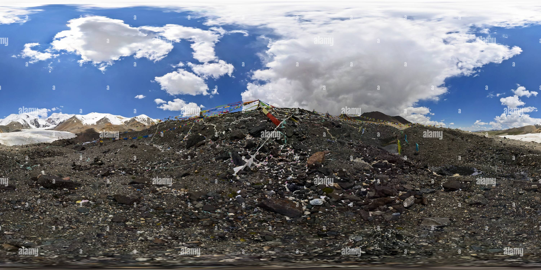阿尼瑪卿神山 Animaqing2(Montagne) Golog, Qinghai, CN Photo Stock
