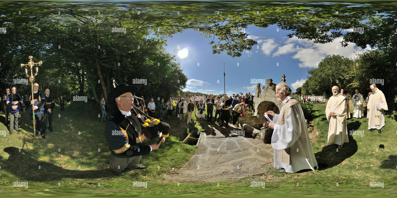 Fontaine grand pardon de Kerdevot ERGUE GABERIC Finistere 0925 Photo Stock