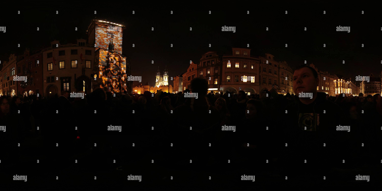 Projection sur vieille ville hôtel de ville 1 Photo Stock