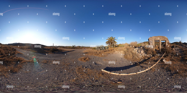 Ruines près du sel, Calblanque Photo Stock