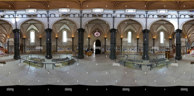 Temple Church, Londres: dôme intérieur Photo Stock