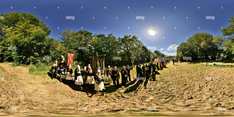 Grand Pardon de Kerdevot ERGUE GABERIC Finistere 0901 Photo Stock
