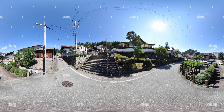 Hida-Takayama maisons anciennes - Temple de Hiro Photo Stock
