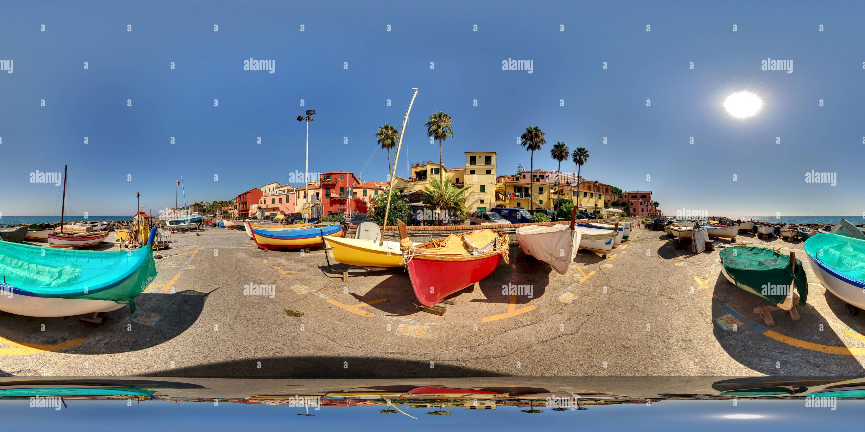 Porto Maurizio, bateaux de pêche à Borgo Foce Photo Stock