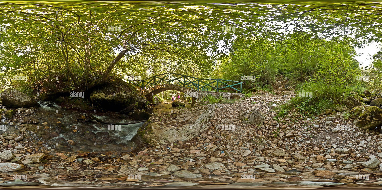 La plupart preko reke Rače Photo Stock