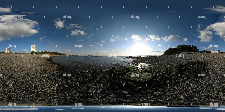 大连银沙滩海岸 Photo Stock