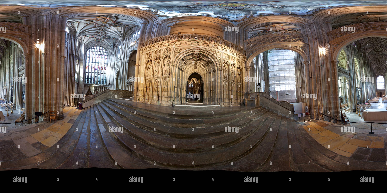 La Cathédrale de Canterbury, de l'intérieur, porte à Choir Photo Stock