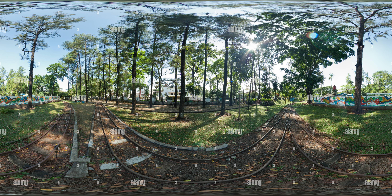 Le trafic ferroviaire, parc de Bandung Photo Stock