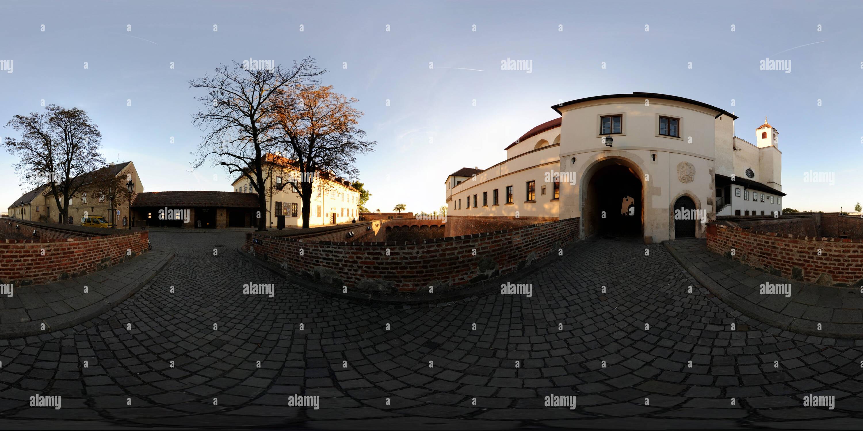 Entrée au château Spielberk à Brno Photo Stock