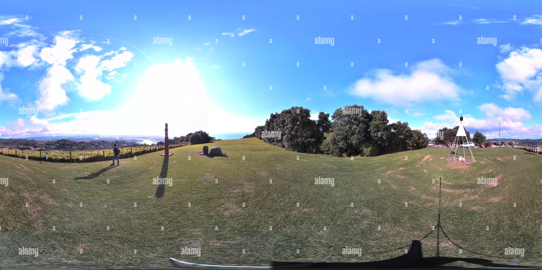 Hill top whakatane Photo Stock