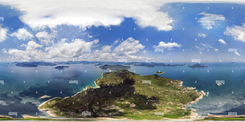 Tiu Chung Chau Vue aérienne(吊鐘洲鳥瞰), Sai Kung, HK. Photo Stock