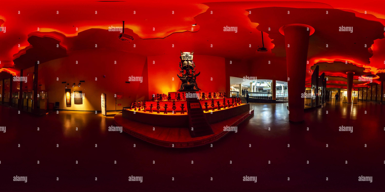 Ware sacrificiel(三星堆博物館祭祀禮器), musée de Sanxingdui, Shanghai, CN Photo Stock