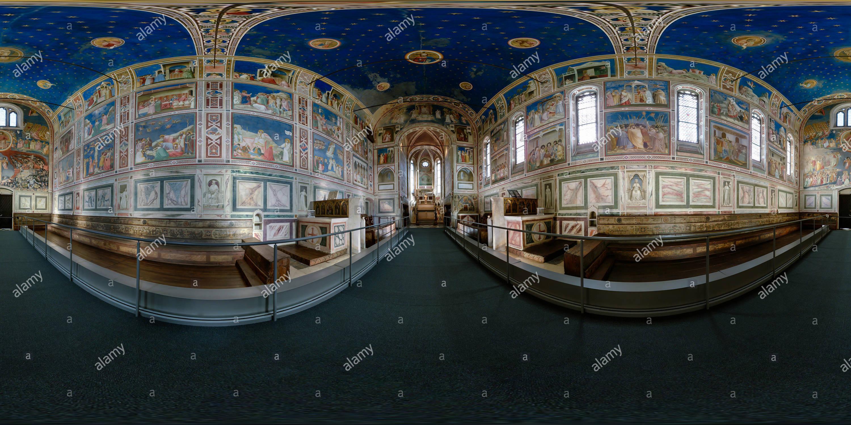 La chapelle des Scrovegni de Padoue, Italie Photo Stock