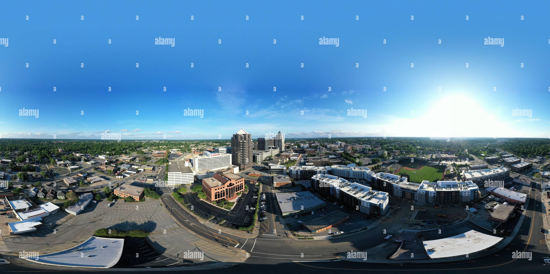 Dans l'après-midi de Greensboro Photo Stock