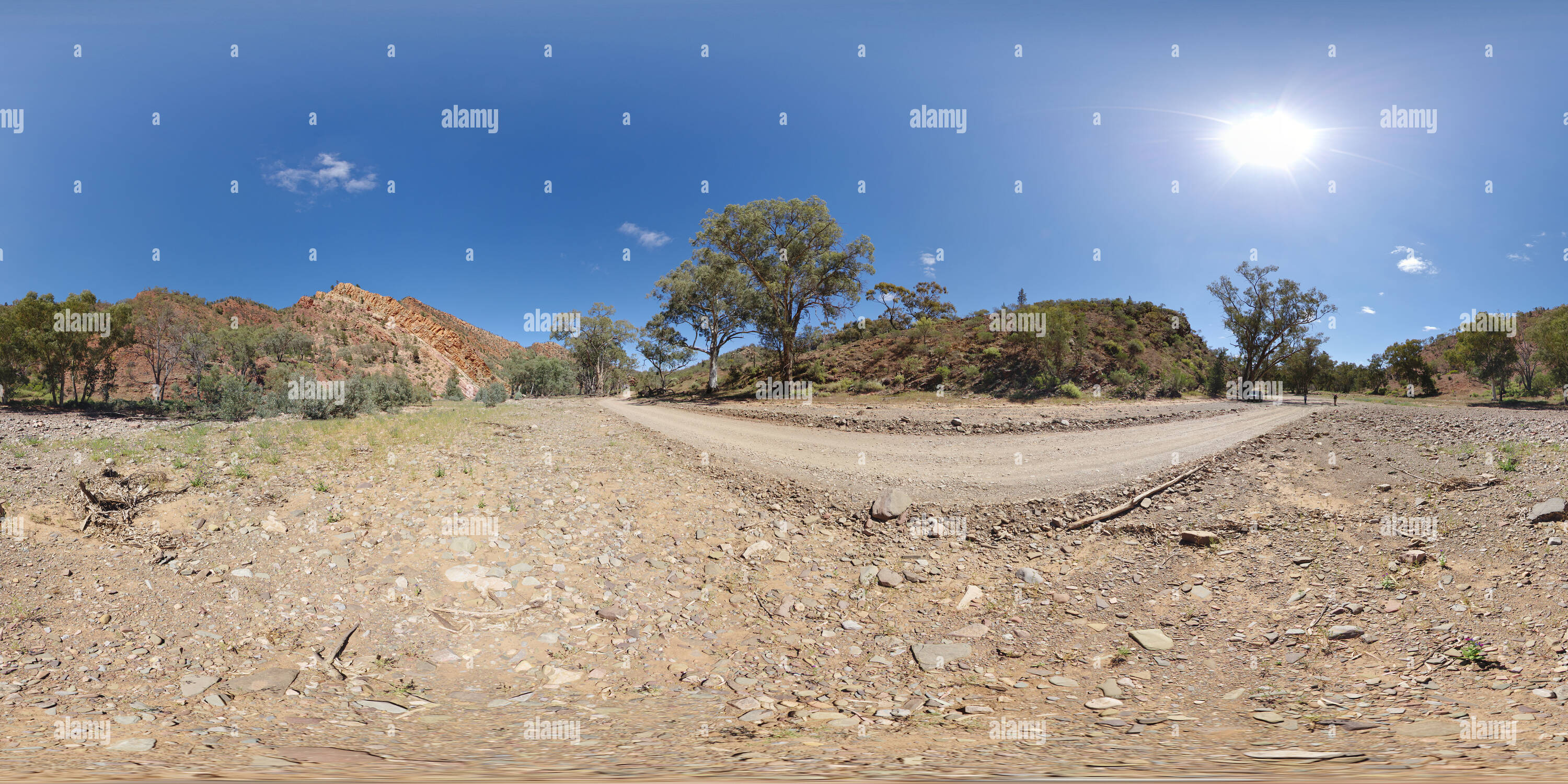Brachina Gorge Road dans la région de Flinders Ranges Photo Stock