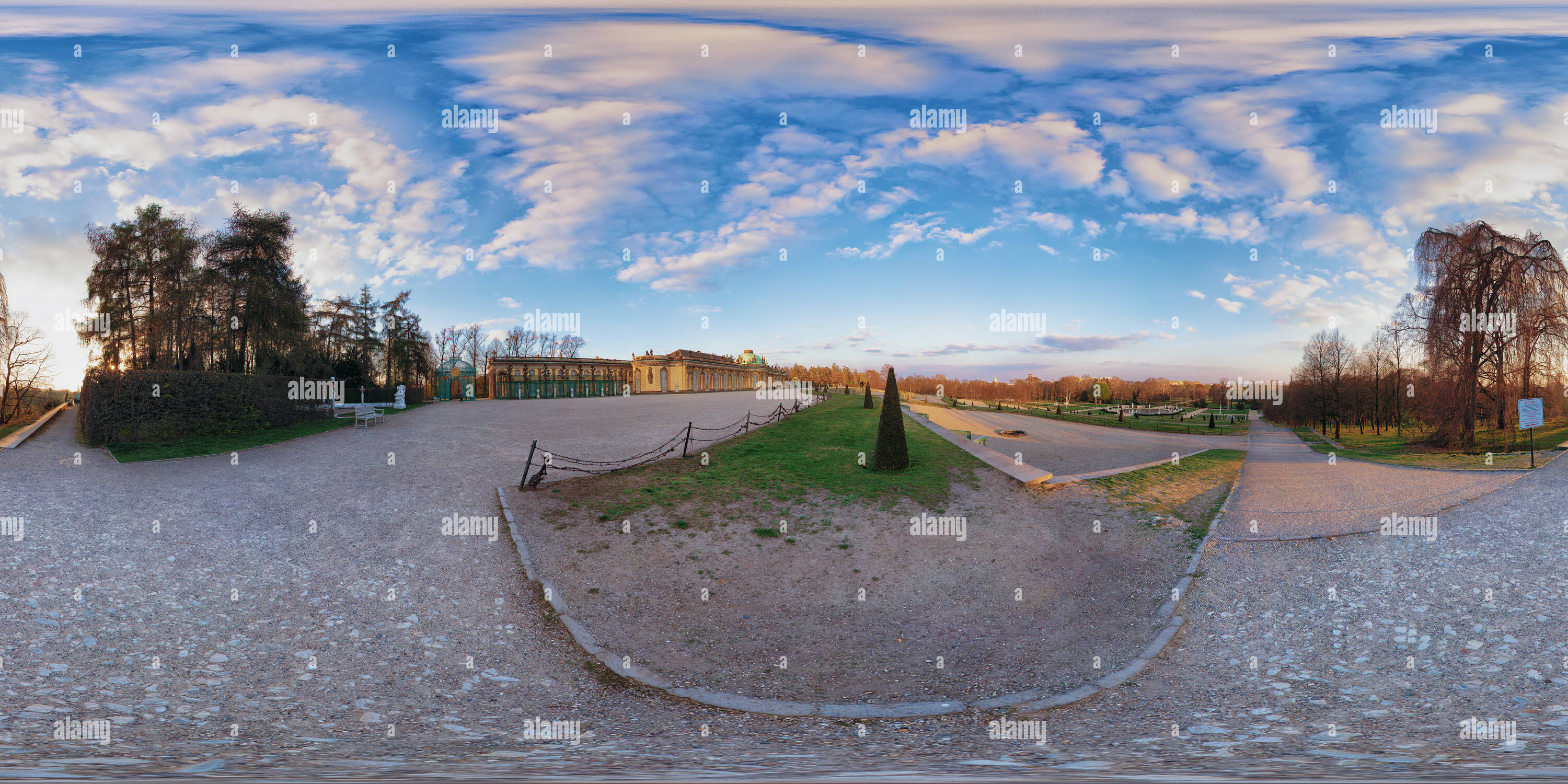 Château de Sanssouci 360 Photo Stock