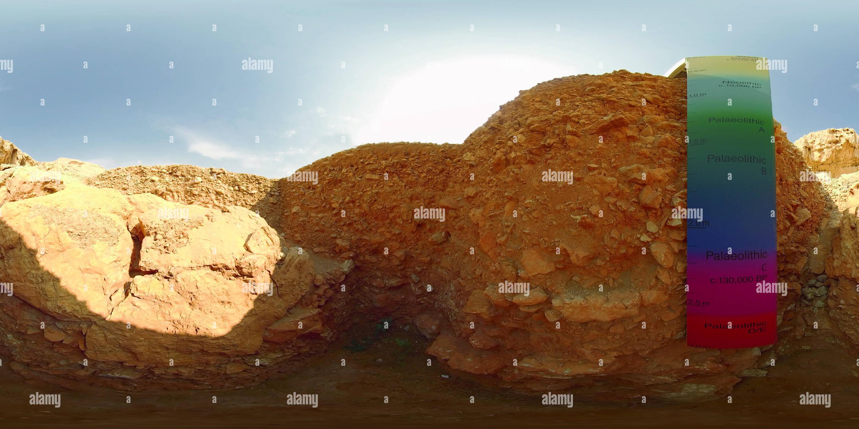 Centre archéologique de Mleiha - Les grottes Faya FAY-NE1 Photo Stock