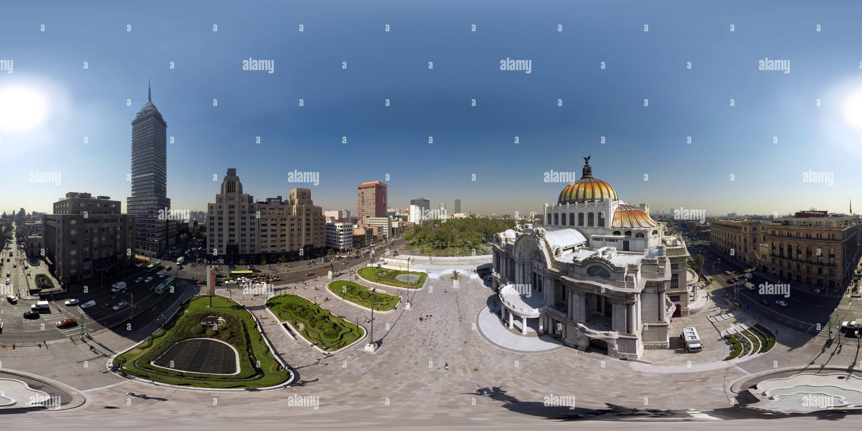 Vue aérienne du Palacio de Bellas Artes, Mexico Photo Stock