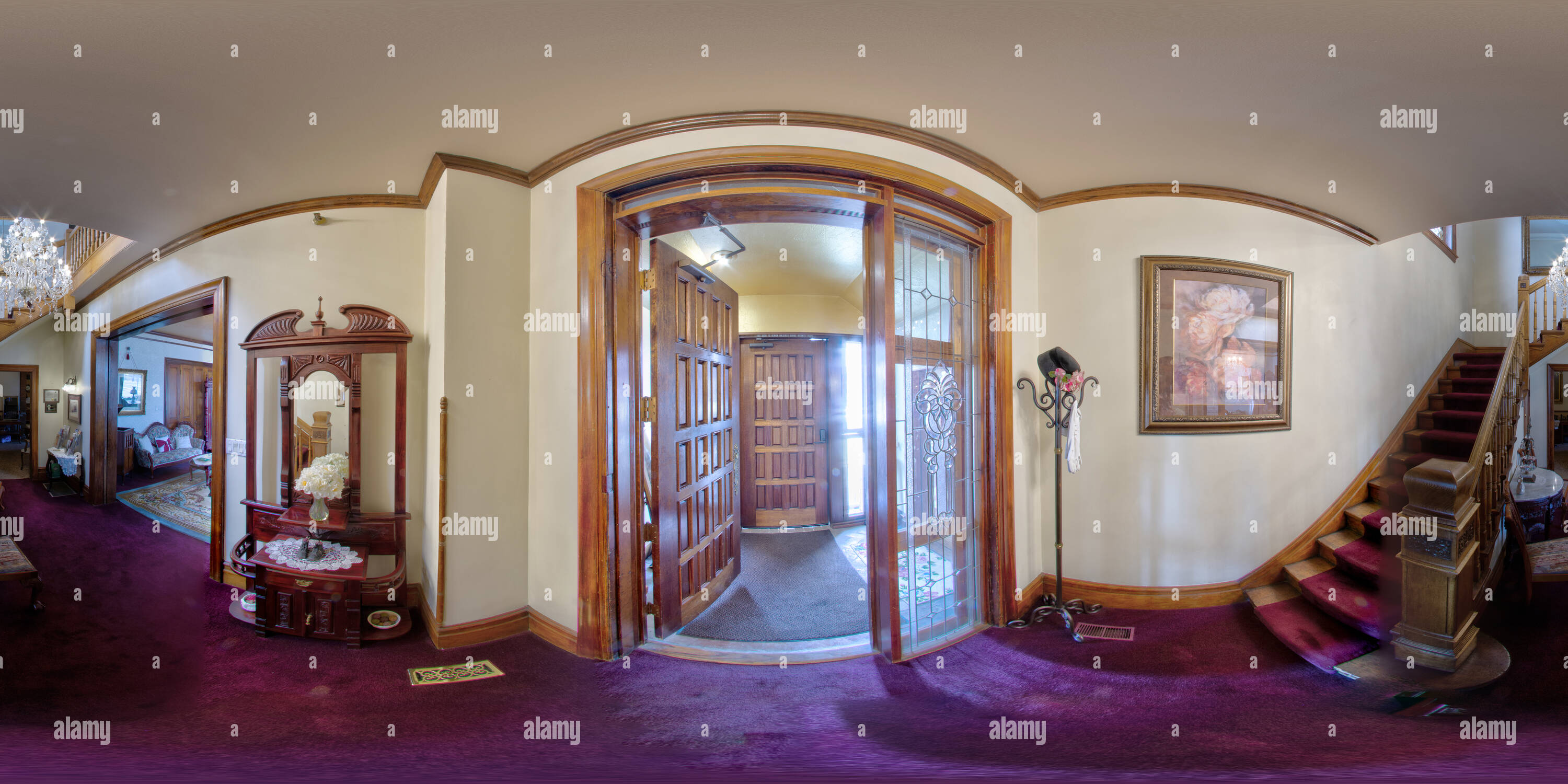 Hines Mansion Entrée Photo Stock