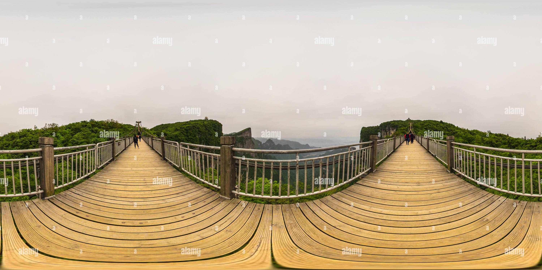 Pont suspendu pour piétons Photo Stock