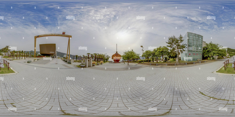 Le 거제 조선해양 - Navire Tortue 거북선 문화관 Photo Stock