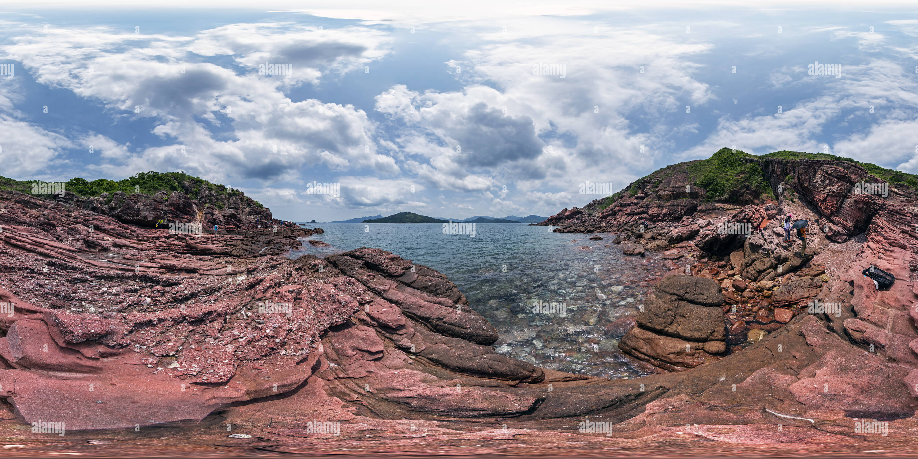 Mars Paradise(赤洲火星樂園千層壁), l'île de Port, HK Geopark. Photo Stock