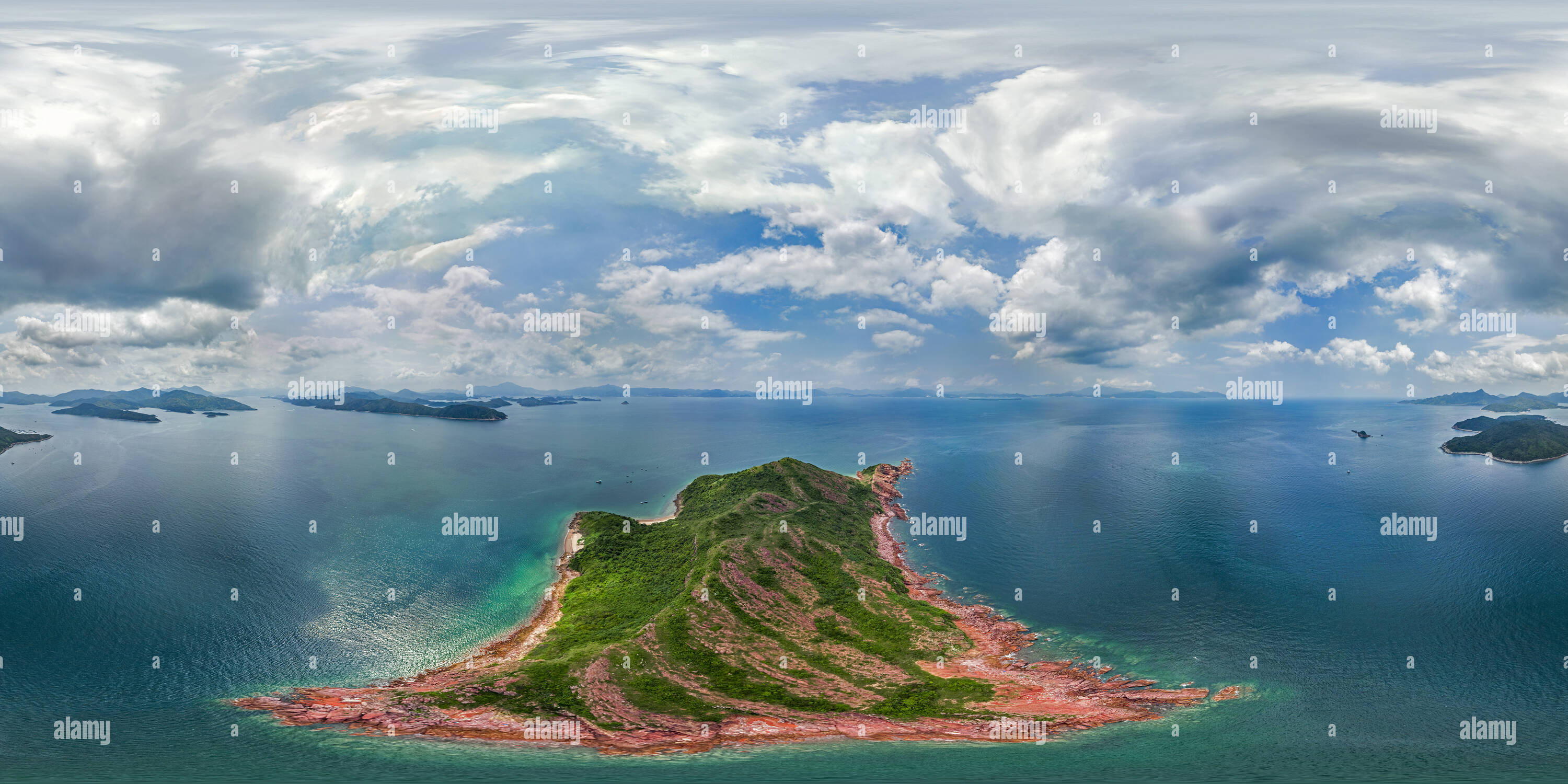 L'île de Port(赤洲紅鷹咀), HK Geopark. Photo Stock