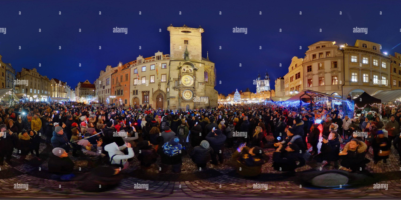 Noël à Prague sur la place de la Vieille Ville Photo Stock