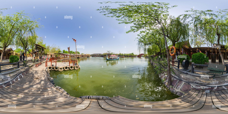 Marina de Qingming Jardin Paysage Riverside Photo Stock