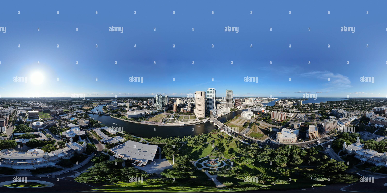 Le centre-ville de la ville de Tampa. La Floride. Photo Stock