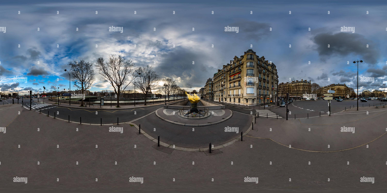 Flamme de la Liberté - Place de l'Alma - Paris - France Photo Stock