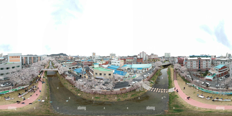 Visualizzazione panoramica a 360 gradi di Mojeon_stream_mungyeong_city