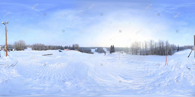 Koskovo da un'altezza Immagini Stock