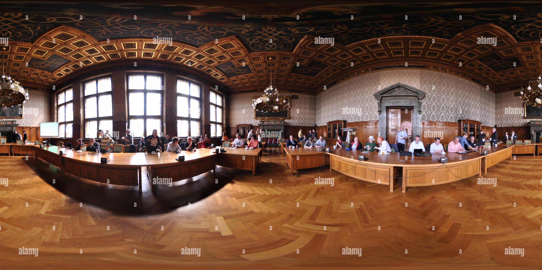 Di Lipsia, Nuovo Municipio - Neues Rathaus Immagini Stock