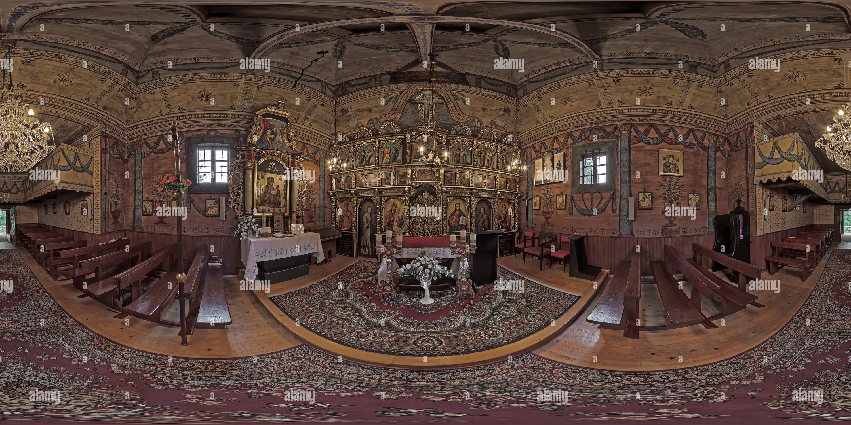 Czarna - dawna cerkiew grecko-katolicka pw. Św. Dymitra Immagini Stock