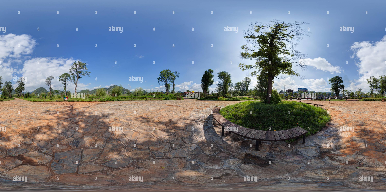 Nella provincia dello Yunnan - Wenshan Zhuang e Miao prefettura autonoma - Qiubei County - Puzhehei scenic -1-2014 Immagini Stock