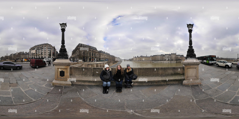 Parigi - Pont Neuf (rottura sul banco di lavoro) Immagini Stock