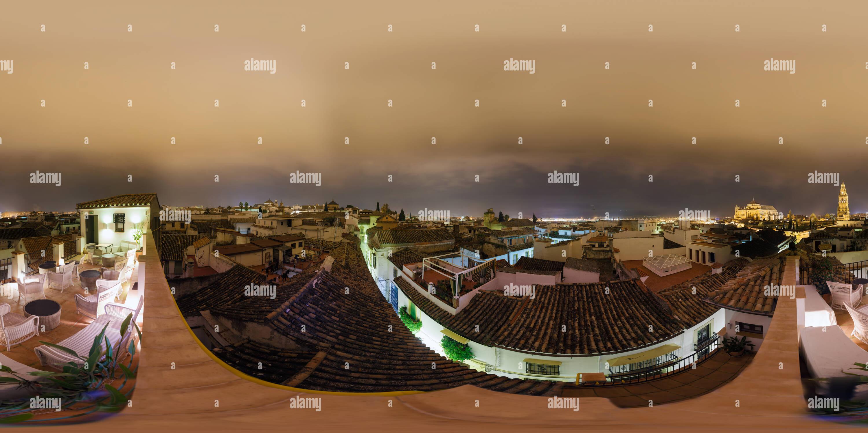 La moschea di Cordova di notte Immagini Stock