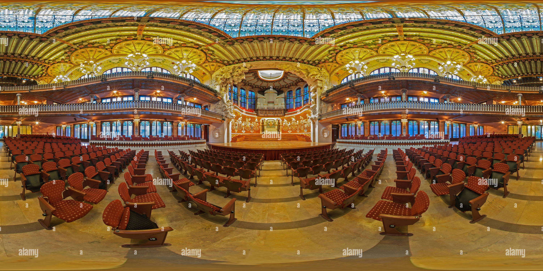 Interior Palau de la Musica Catalana - Barcellona - Spagna Immagini Stock