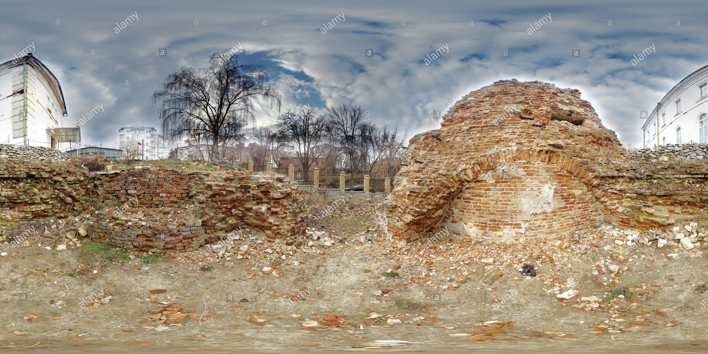 Развалины Николаевской церкви Immagini Stock