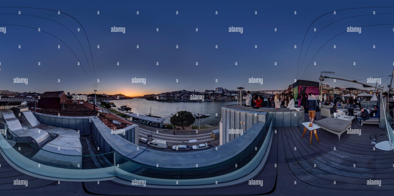 Portocruz 360º Terrace Lounge ::: Vila Nova de Gaia Immagini Stock