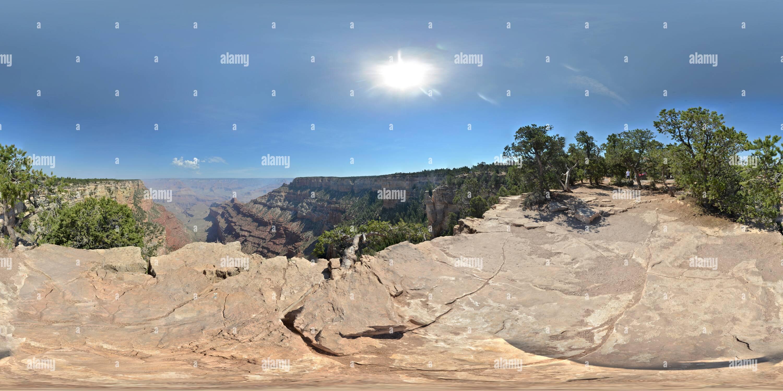 Del Grand Canyon South Rim punto di vista Immagini Stock