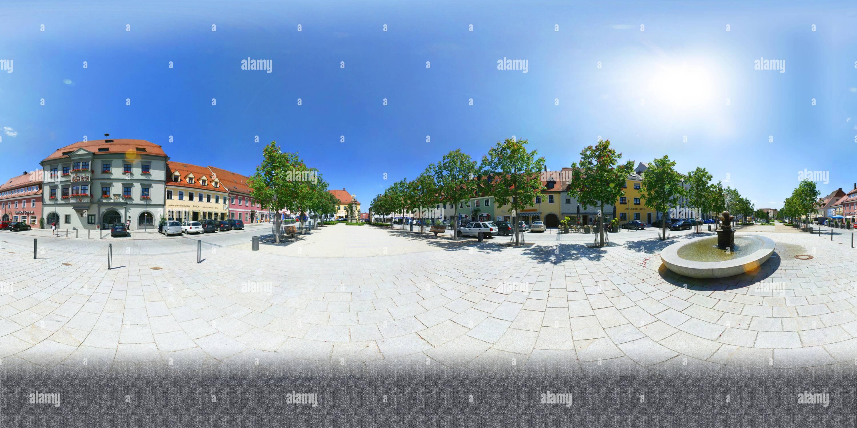 Piazza del Mercato di Tirschenreuth Immagini Stock