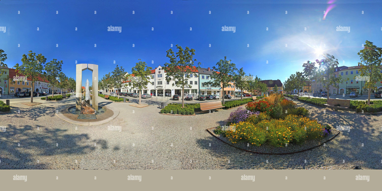 Piazza del mercato di Tirschenreuth 2 Immagini Stock